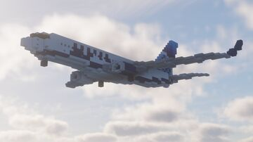 Boeing 737-800 In the new united livery Minecraft Map & Project
