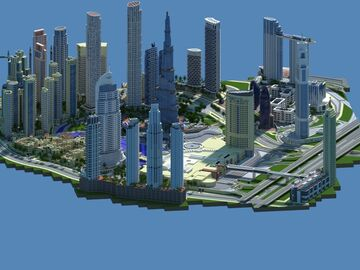 Dubai Downtown Minecraft Map & Project