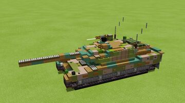 3-1 scale Type 10 Hitomaru Main battle tank Minecraft Map & Project