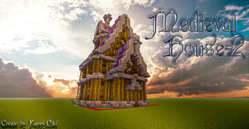 Medieval House №-2. Minecraft Map & Project