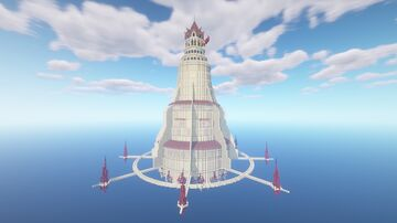 Giant Floating Magical Lighthouse Minecraft Map & Project