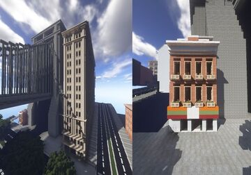 Smith Complex & Eastern Bay Drive with 7-Eleven | Annetown / Devil's Diner | New Lapusia City Minecraft Map & Project