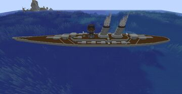 Pillager Battleship (located at x200 and z1400) Minecraft Map & Project