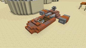 Star Wars - Naboo Flash Speeder (Tatooine Version) Minecraft Map & Project