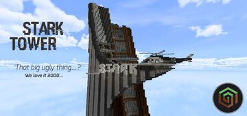 Stark Tower [PE - MAP] Minecraft Map & Project
