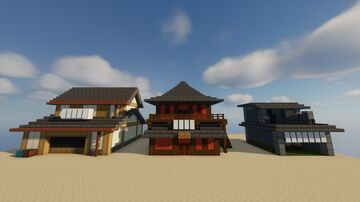 Anime Storefronts |Naruto, Bleach, and Gintama| Minecraft Map & Project
