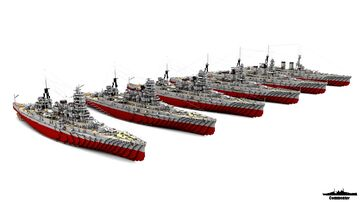 IJN Totomi 1:1 Scale (Fictional Battleship 1920, 1927, 1934, 1938, 1942 & 1944 versions) Minecraft Map & Project