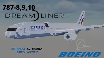 Boeing 787 (8.9.10) dreamliner [1:1] Minecraft Map & Project