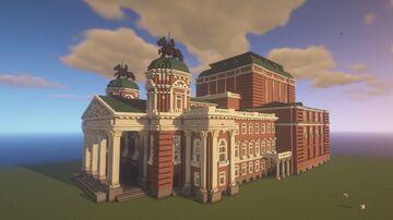 Ivan Vazov National Theatre Minecraft Map & Project