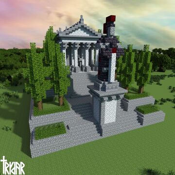 Small Roman Temple +tutorial Minecraft Map & Project
