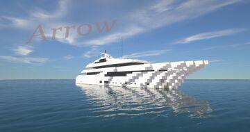Arrow   Super Yacht (ShipSide) Minecraft Map & Project