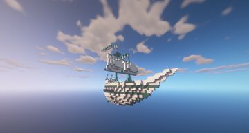 Quartz Ship (second ship I have built) Minecraft Map & Project