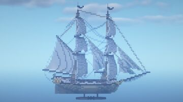 Brig Ship Silvermoon Minecraft Map & Project