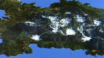Mountain RPG Island - WorldMachine [4000x4000] Minecraft Map & Project