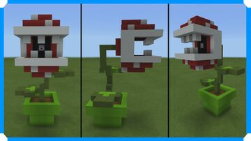 How To Build A Fire Spitting Piranha Plant Minecraft Map & Project