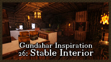 Medieval Stable Interior Minecraft Map & Project