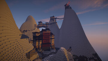 Asian Mountain Temple Minecraft Map & Project