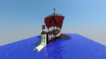 AC Oydssey Spartan Trireme Minecraft Map & Project