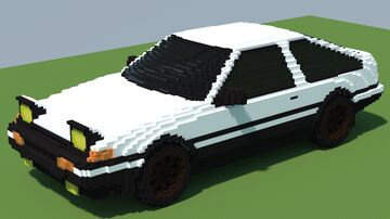 Toyota Corolla Sprinter Trueno AE86 Minecraft Map & Project