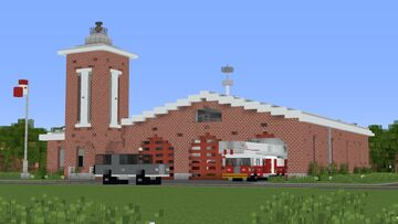 Traditional Fire Station Minecraft Map & Project