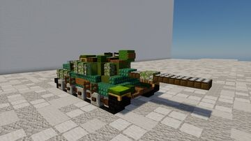 Leopard 1a1  1.5:1 scale Minecraft Map & Project