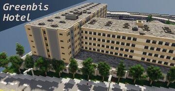 Greenfield, Greenbis Hotel, Califorina styled hotel Minecraft Map & Project