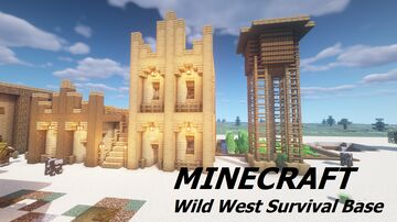Wild West Survival Base + Western Water Tower Minecraft Map & Project