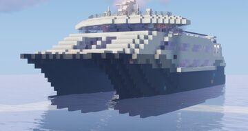 High Speed Catamaran Ferry Minecraft Map & Project