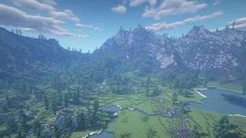 Lake near the mountains Minecraft Map & Project