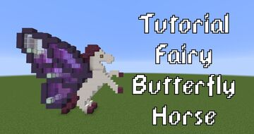 Fairy Butterfly Horse Minecraft Map & Project
