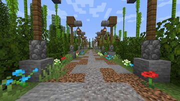 Old house with beautiful walk way Minecraft Map & Project
