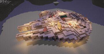 Minecraft Millennium Falcon - TUTORIAL - 1:1 Scale - Full interior Millennium Falcon Minecraft Map & Project