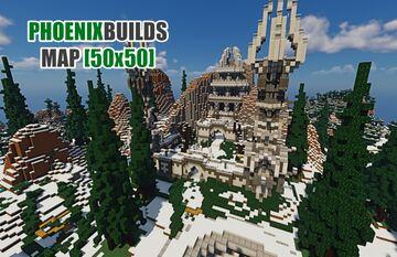 [50x50] SPAWN SURVIVAL ► PHOENIXBUILDS Minecraft Map & Project