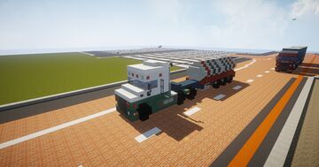 1.75:1 scale,  European Scania T series  Tanker_Container Trailer Minecraft Map & Project
