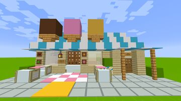 Ice Cream Parlor Minecraft Map & Project