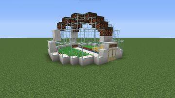 Futuristic(ish?) Greenhouse Minecraft Map & Project
