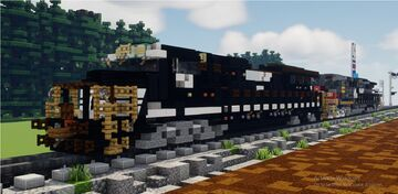 minecraft norfolk souther dash 9-44CW 9939 leading and southern pacific 6387 AC4400CW Minecraft Map & Project