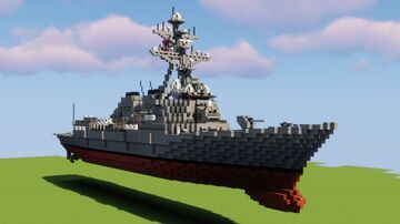 (1:1 Scale Fictional Guided Missile Destroyer) USS Vindianapolis DDG-129 Minecraft Map & Project