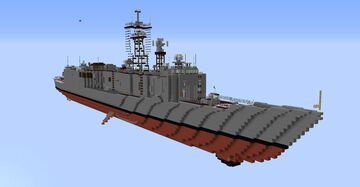1.5:1 Oliver Hazard Perry Class Frigate (Long Hull) Minecraft Map & Project