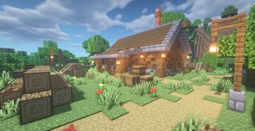 Casa de Lenhador Simples | Simple Lumberjack House Minecraft Map & Project