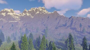 Mountainous Forested Island (6k/6k) Minecraft Map & Project