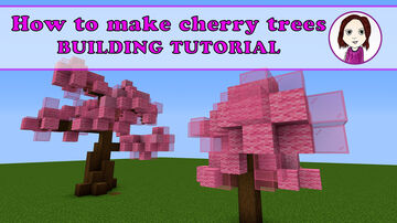 How to make a cherry tree | Minecraft 1.14 building tips and tricks Minecraft Map & Project