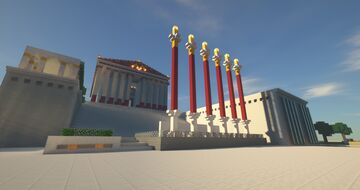 Ancient Greek & Rome themed spawn area. Minecraft Map & Project