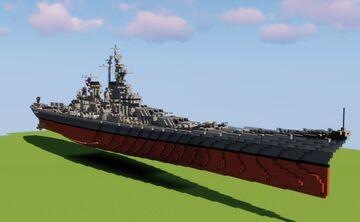 (1:1 Fictional Battleship) USS Florida BB-66 Minecraft Map & Project