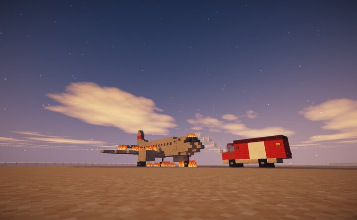 Airport Fire training plane