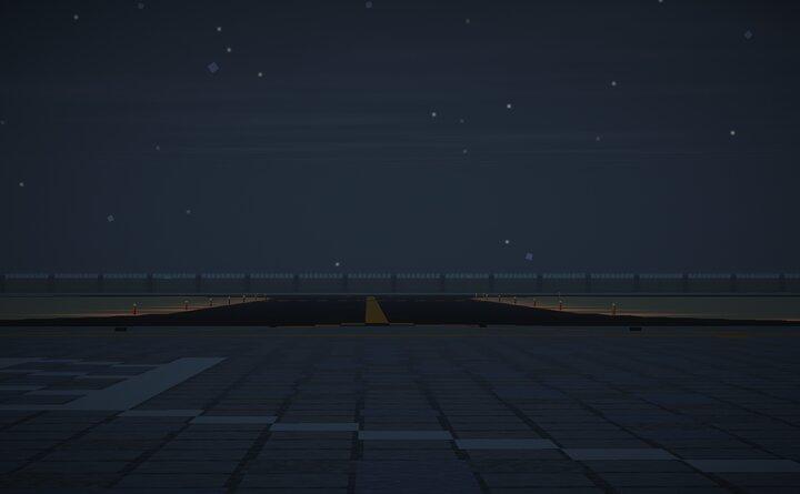 Taxiway at night