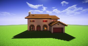 Simpsons House (2:1 Scale) Minecraft Map & Project