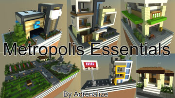 Adrenalize's 6x Modern Metropolis Essentials Minecraft Map & Project