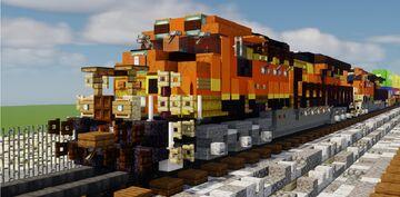my first video in planet minecraft [minecraft BNSF ES44AC H2 diesel locomotive] Minecraft Map & Project