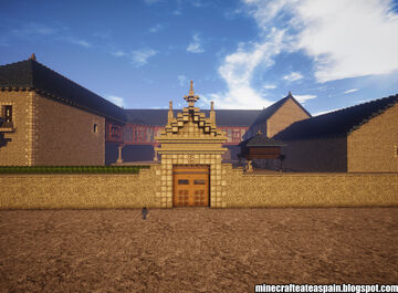 Minecraft replica of the Sierra Pambley House, Villablino, Spain. Minecraft Map & Project